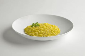 Bowl with saffron risotto