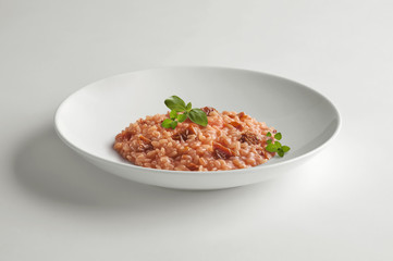 Risotto bowl with dried tomatoes
