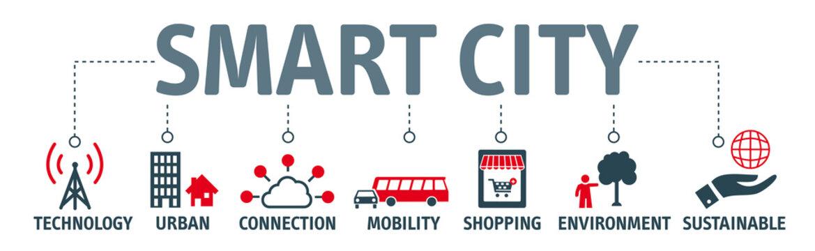 Banner smart city concept