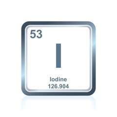 Chemical element iodine from the Periodic Table