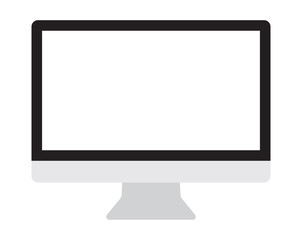 Computer monitor, display isolated vector icon