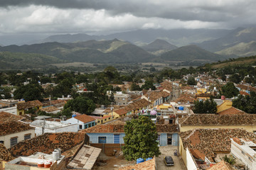 Elevated view over the colonial city of Trinidad, Sancti Sp'ritus province, Cuba.