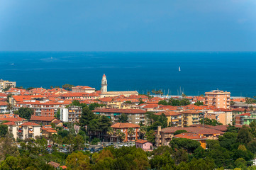 The charming town of Diano Marina, Liguria, Italy