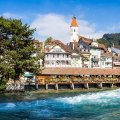 Stadt Thun an der Aare, Kanton Bern, Schweiz