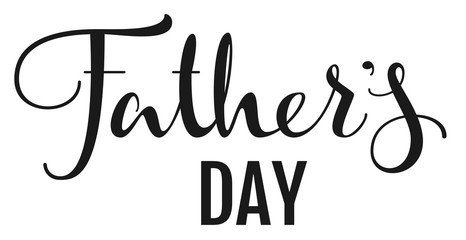 Fathers Day. Lettering text for greeting card