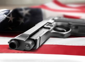 Gun on white background
