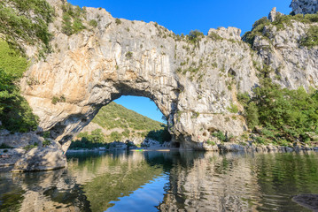 Pont D'Arc, rock arch over the Ardeche River, France