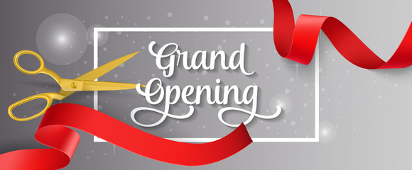 Grand Opening Lettering and Frame