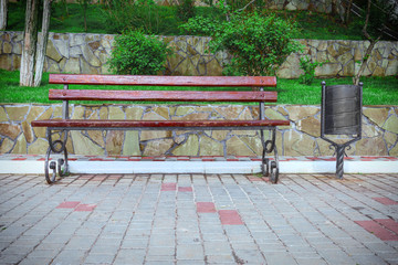 bench with urn in Park