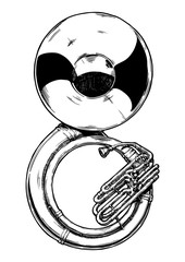 illustration of sousaphone