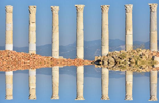 historical column posts