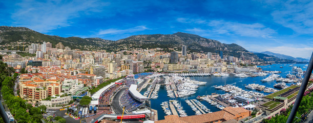 Acrylic Prints F1 Monaco F1 Panorama HDRLook
