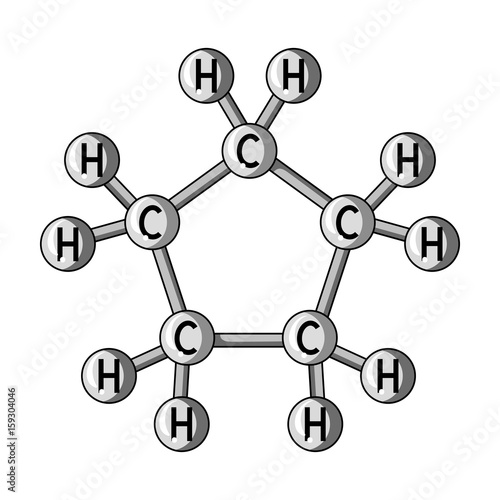 Chemical Oil Formulaoil Single Icon In Monochrome Style Vector