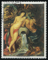 Fragment of Painting Union of Earth and Water by Rubens