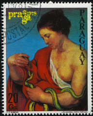 young Woman From Philatelic Exhibition by Rubens