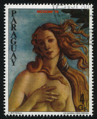 young Woman From Philatelic Exhibition by Boticelli