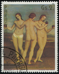 Three Graces by Raphael