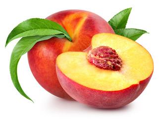 Foto op Plexiglas Vruchten peach fruits isolated