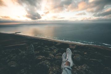 Enjoying the View over Cofete Beach - Fuerteventura