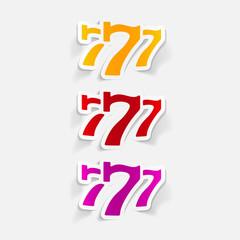 realistic design element: three seven