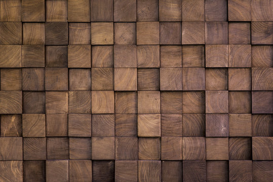 Wall texture with wood cube
