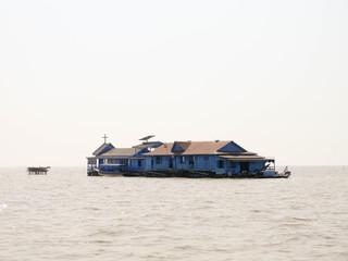 Catholic Church. Lake Tonle Sap. Cambodia