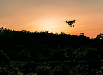Drone Photography At Sunset