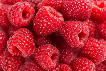 Wall Mural - Close-up background of raspberry