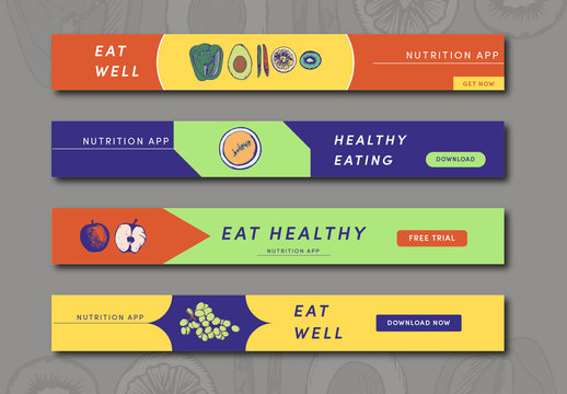 Four Health Leaderboard Health Web Banner Ad Layouts