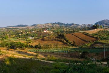 Landscape view of Khao Kho in Phetchabun, Thailand.
