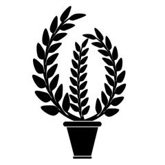 flowerpot icon design.