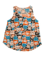 Womens T-shirt with cats pattern