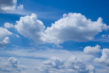 Canvas Prints white clouds blue sky