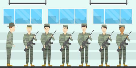 Army training camp.