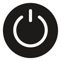 Power on icon button