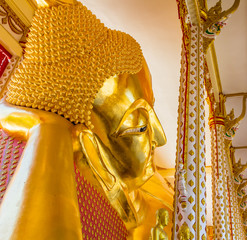 Beautiful Temple  At Wat Lat Prakong Tham ,Nonthaburi in Thailand