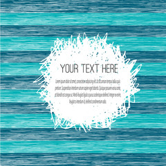 Scribble blue striped card template with white hatching backdrop. Abstract background. Handwriting.