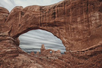 Turret Arch and North Window Arch in Arches National Park