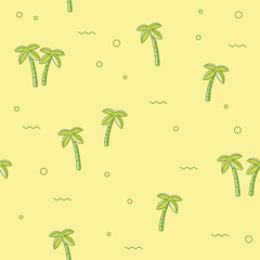Seamless pattern with palm tree. Vector background for web or the Texture of trees for printing on fabric.
