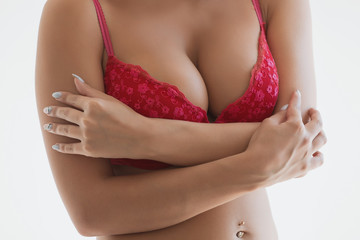 Beautiful female breast