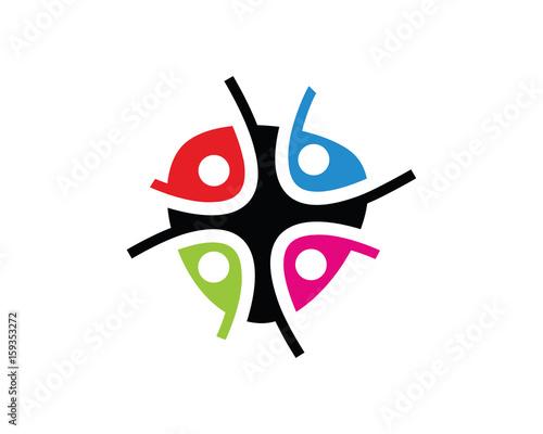 community logo template design vector emblem design concept