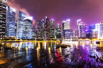 Singapore night skyline