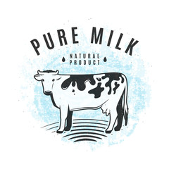 Vector illustration of fresh milk from the farm