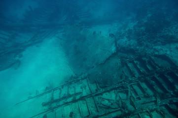Diving tour to shipwreck ruins
