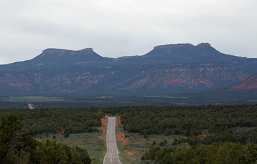 Bears Ears, twin rock formations, are pictured in Utah's Four Corners region