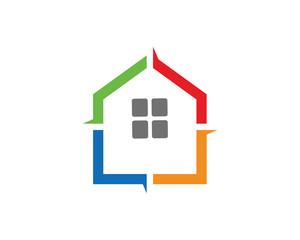 Color House Logo Template Design Vector, Emblem, Design Concept, Creative Symbol, Icon