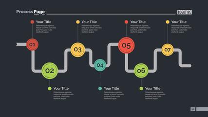 Seven Steps Diagram Slide Template