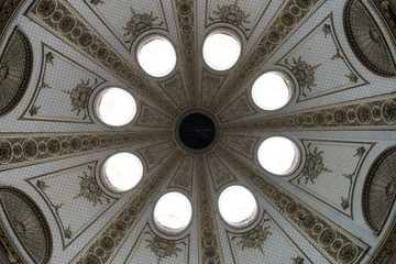 Interior of palatial dome skylights