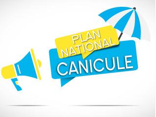 mégaphone bleu jaune : plan national canicule