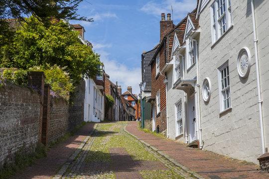 Keere Street in Lewes, East Sussex in the UK.